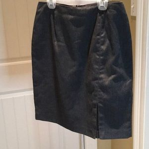 Grey straight line skirt